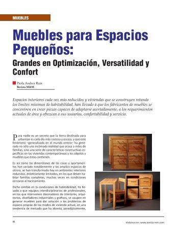 Muebles para Espacios Pequeños: - Revista El Mueble y La Madera
