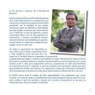 A los alumnos y alumnas de la Facultad de Derecho - Pontificia ...