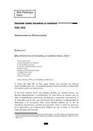 informe sobre desarrollo humano - Grupo Propuesta Ciudadana
