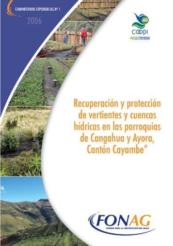 Recuperación y conservación de vertientes - Fonag