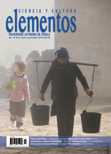 Número completo (3.13 Mb) - Revista Elementos - Benemérita ...