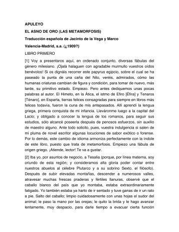 APULEYO EL ASNO DE ORO (LAS ... - Historia Antigua