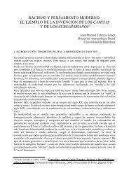 racismo y pensamiento moderno: el ejemplo de la ... - BiBGirona