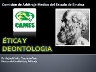 La Bioética - Comisión de Arbitraje Médico del Estado de Sinaloa