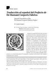 Traducción al español del Prefacio de De Humani Corporis Fabrica