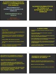 algunos dilemas éticos en torno a la experimentación con animales