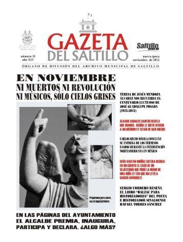 gazeta noviembre 2012.pmd - Archivo Municipal de Saltillo