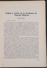 Origen y visión de la Academia de Ciencias Médicas - Acadèmia