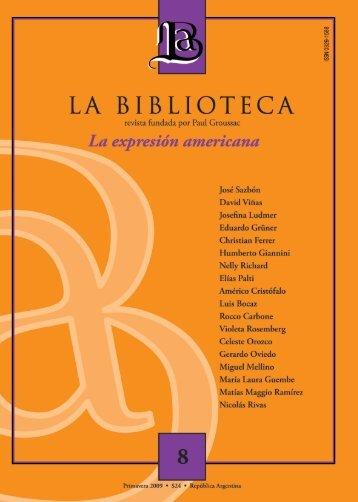 Revista La Biblioteca N° 8 - Biblioteca Nacional
