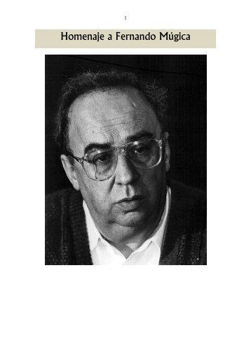 Homenaje a Fernando Múgica - José María Benegas