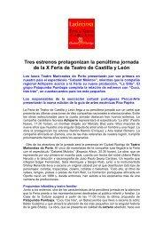 Nota de prensa, viernes día 24 de agosto - Feria de Teatro de ...