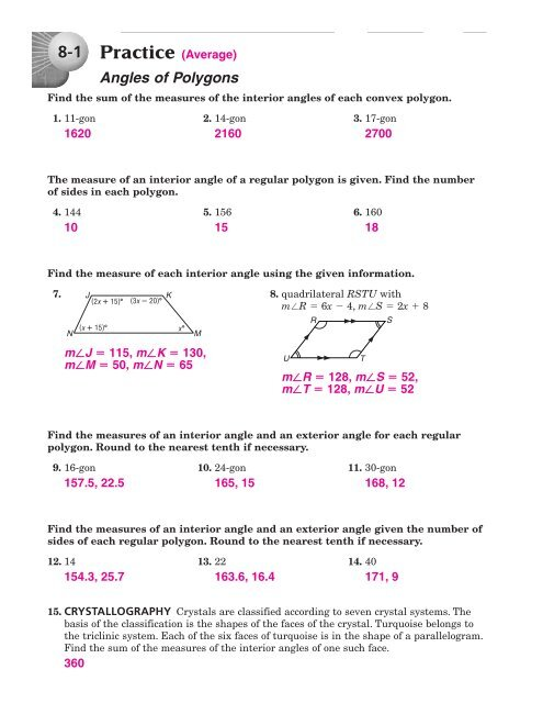 8 WS Answers
