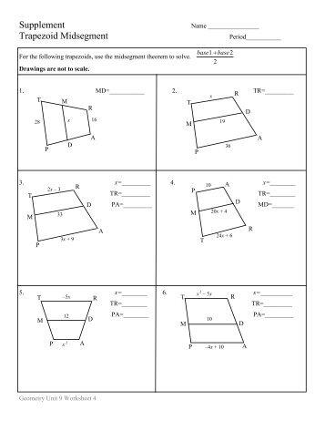 trapezoids review worksheet. Black Bedroom Furniture Sets. Home Design Ideas