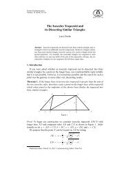 The Isosceles Trapezoid and its Dissecting Similar Triangles ...