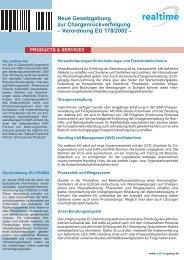 Neue Gesetzgebung zur Chargenrückverfolgung ... - realtime AG