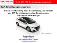 SAP-Berechtigungsmanagement 2011 - Honda - Einsatz Third-Party ...