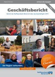 Geschäftsbericht - Raiffeisenbank Illertal eG