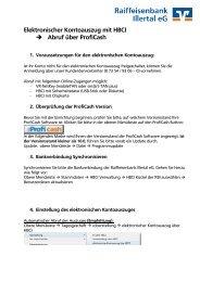 Umstellungsanleitung ProfiCash - Raiffeisenbank Illertal eG