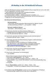 VR-NetKey in der VR-NetWorld Software - Raiffeisenbank Kempten
