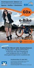 e-Bike - Raiffeisenbank Kieselbronn eG