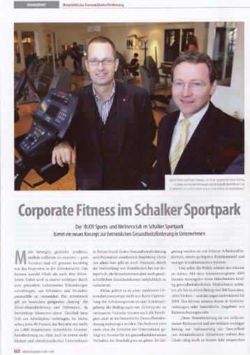 Corporate Fitness im Schalker Sportpark
