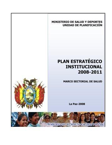 plan estratégico institucional 2008-2011 - Ministerio de Salud y ...
