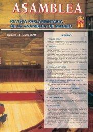 Revista Parlamentaria Nº. 14 - Asamblea de Madrid