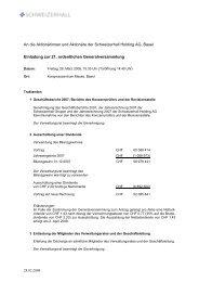 An die Aktionärinnen und Aktionäre der Schweizerhall ... - Acino