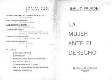 FRUGONI EMILIO - Facultad de Derecho