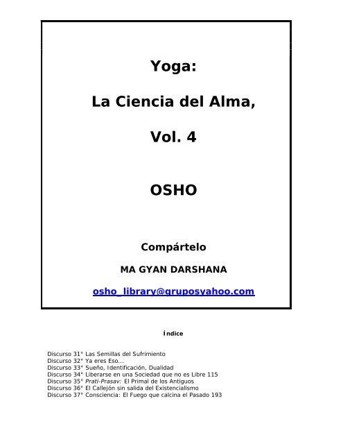 Yoga La Ciencia Del Alma Vol 4 - en la taberna