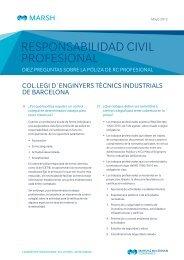 responsabilidad civil profesional - Col·legi d'Enginyers Tècnics ...