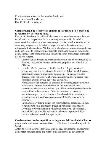 Prof. Dr. Francisco González - Sindicato Médico del Uruguay