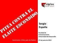 Presentación Sergio España - Facultad de Comunicaciones UDD ...
