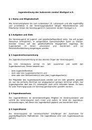 Jugendordnung des Judoverein randori Stuttgart e.V. § 1 Name und ...