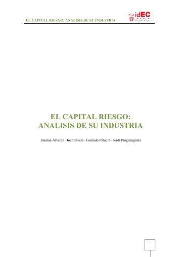 EL CAPITAL RIESGO: ANALISIS DE SU INDUSTRIA