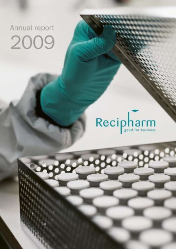 Download the annual report in PDF format here. - Recipharm