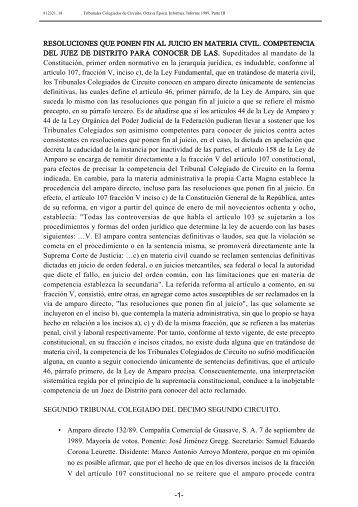 • RESOLUCIONES QUE PONEN FIN AL JUICIO EN MATERIA CIVIL ...
