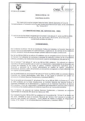 CNSC - Comisión Nacional del Servicio Civil