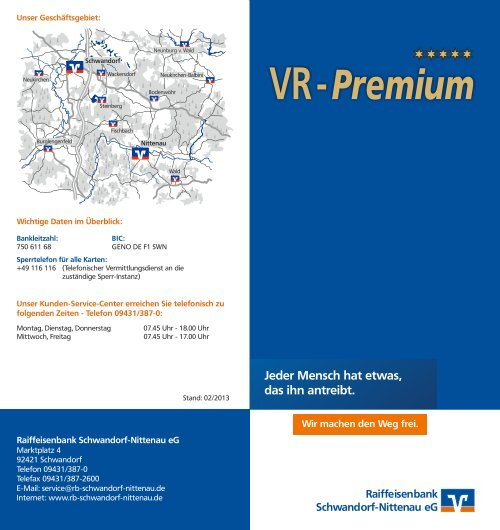VR-Premium - Raiffeisenbank Schwandorf-Nittenau eG