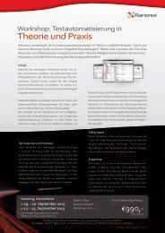Theorie und Praxis - Ranorex