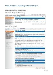 Online-Anmeldung zu Sm@rt-TAN plus