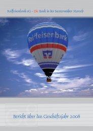 Geschäftsbericht 2008.indd - Raiffeisenbank eG