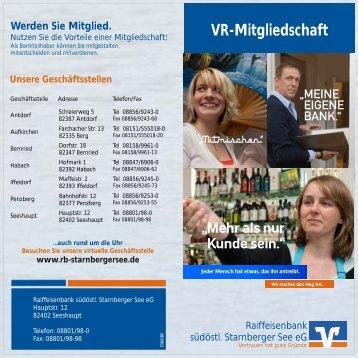 VR-Mitgliedschaft - Raiffeisenbank südöstl. Starnberger See eG