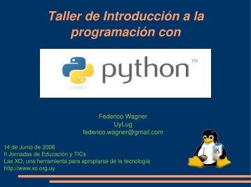 Taller de introducción a la progamación con Python - pdf