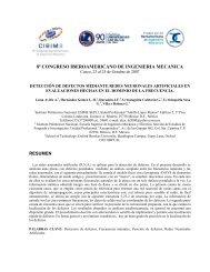 8º CONGRESO IBEROAMERICANO DE INGENIERIA MECANICA RESUMEN