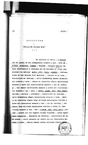 Estatutos de la Fundación Frei - CIPER Chile