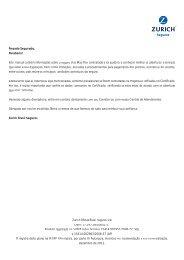 Este manual contém informações sobre o seguro Viva Mais ... - Zurich