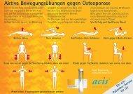 Aktive Bewegungsübungen gegen Osteoporose - acis Arzneimittel