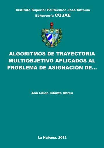 Algoritmos de trayectoria multiobjetivo aplicados al problema de ...