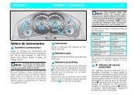 MANDOS Y CONTROLES SECCIÓN 6 Tablero de instrumentos